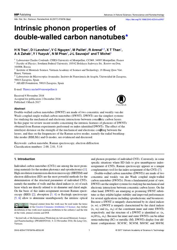 Intrinsic phonon properties of double-walled carbon nanotubes