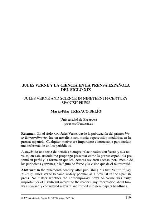 Jules Verne y la ciencia española del siglo XIX