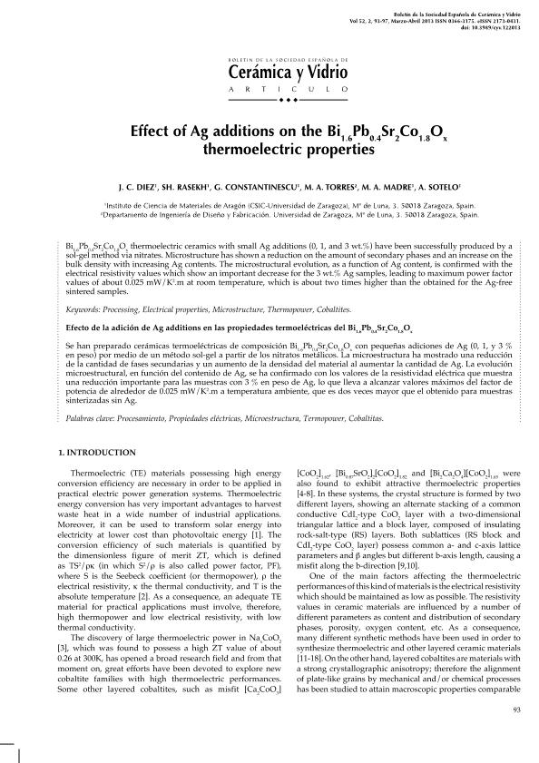 Effect of Ag additions on the Bi1.6Pb0.4Sr2Co1.8Ox thermoelectric properties