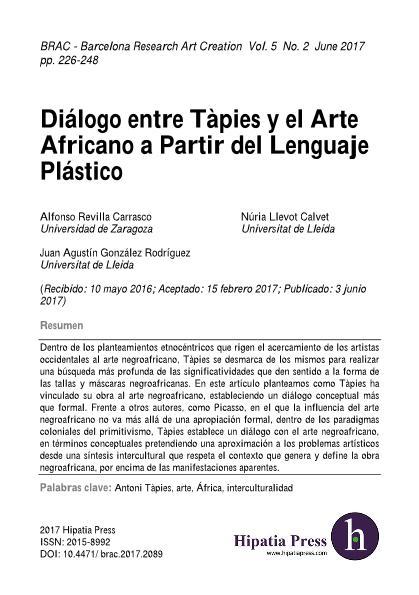 Diálogo entre Tàpies y el Arte Africano a partir del Lenguaje Plástico