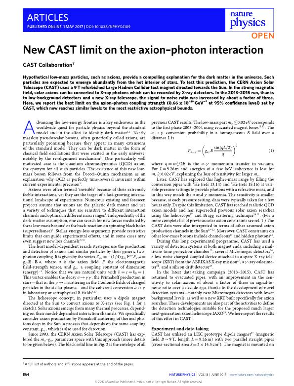 New CAST limit on the axion-photon interaction