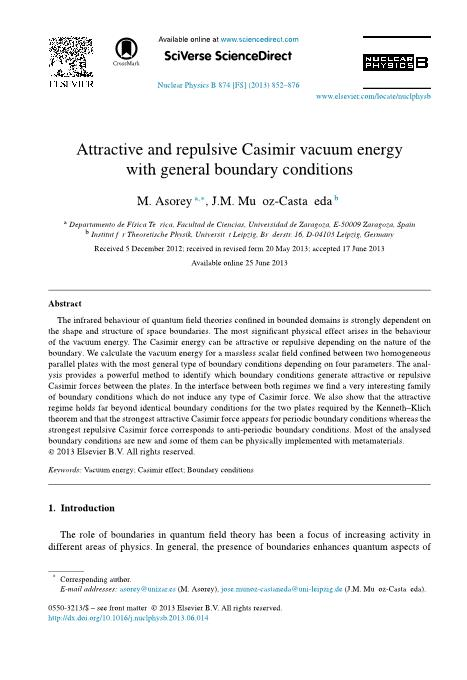 Attractive and repulsive Casimir vacuum energy with general boundary conditions