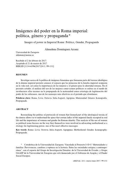 Imágenes del poder en la Roma imperial: política, género y propaganda