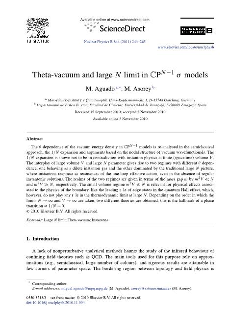 Theta-vacuum and large N limit in CPN-1   models