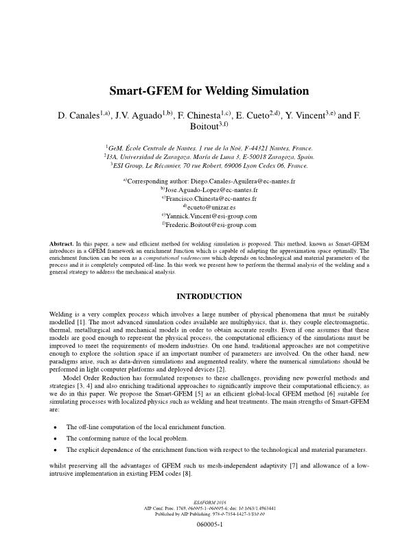 Smart-GFEM for welding simulation