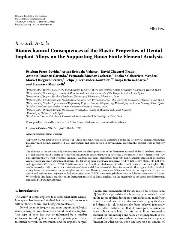 Biomechanical Consequences of the Elastic Properties of Dental Implant Alloys on the Supporting Bone: Finite Element Analysis