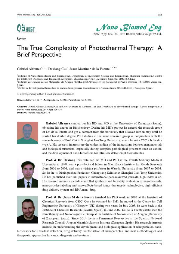The true complexity of photothermal therapy: A brief perspective