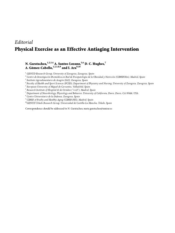 Physical Exercise as an Effective Antiaging Intervention