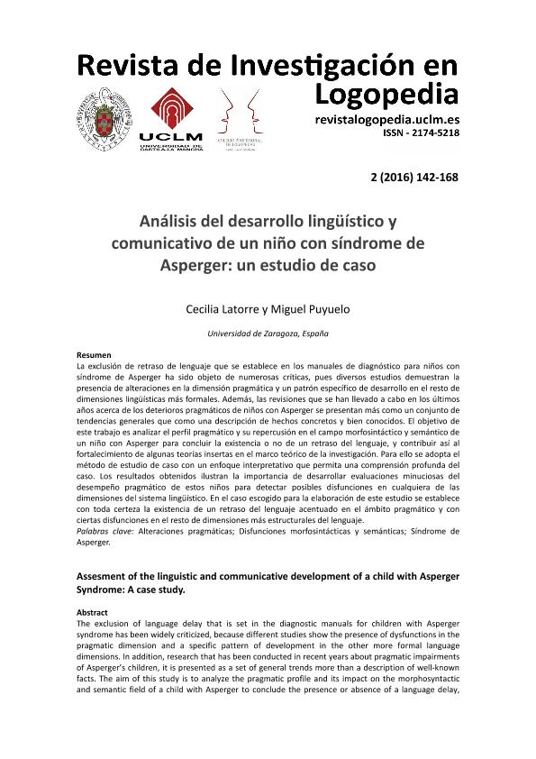 Análisis del desarrollo lingüístico y comunicativo de un niño con síndrome de Asperger: Un estudio de caso