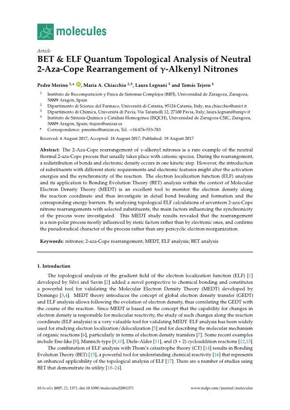 BET & ELF quantum topological analysis of neutral 2-aza-cope rearrangement of gamma-alkenyl nitrones