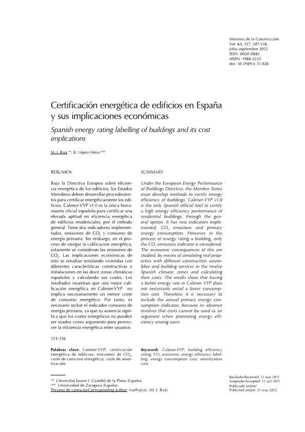 Certificación energética de edificios en España y sus implicaciones económicas