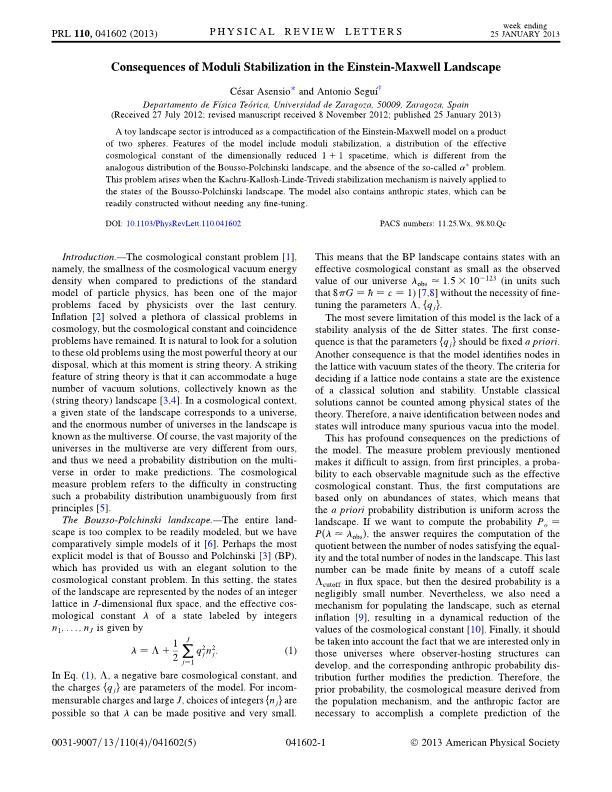Consequences of moduli stabilization in the Einstein-Maxwell landscape