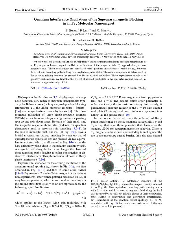 Quantum interference oscillations of the superparamagnetic blocking in an Fe8 molecular nanomagnet