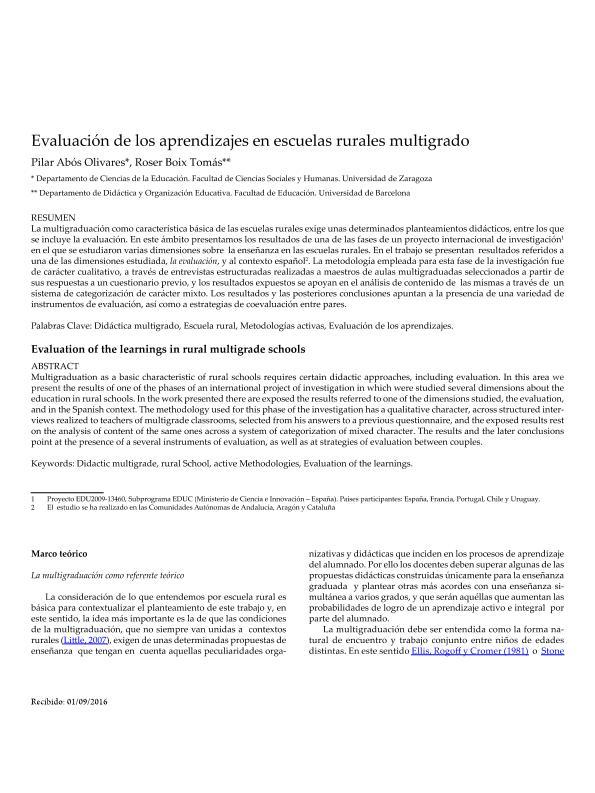 Evaluación de los aprendizajes en escuelas rurales multigrado