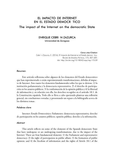 El impacto de internet en el estado democrático
