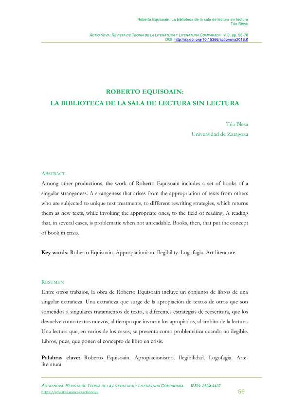 Roberto Equisoai: la biblioteca de la sala de lectura sin lectura