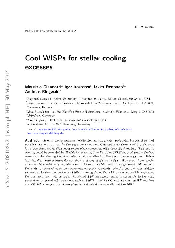 Cool WISPs for stellar cooling excesses
