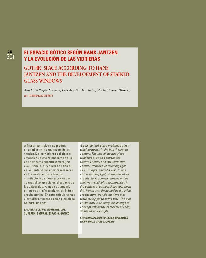 El espacio gótico según Hans Jantzen y la evolución de las vidrieras