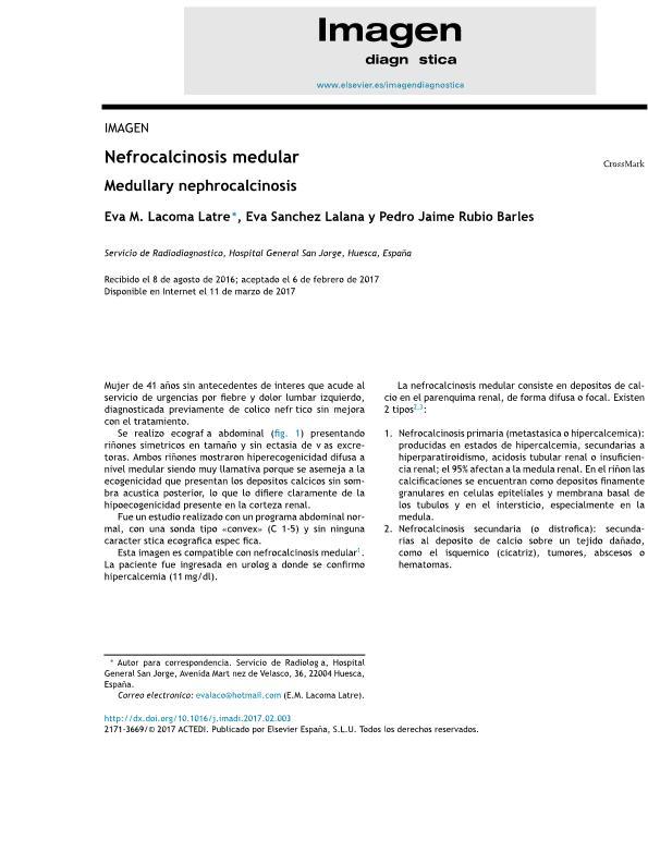 Nefrocalcinosis medular