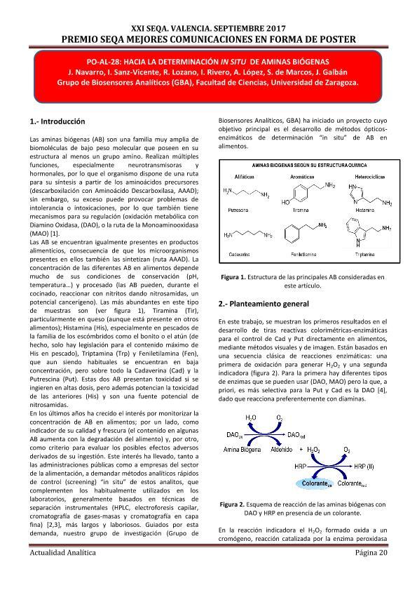 Hacia la determinacion in situ de aminas biogenas.