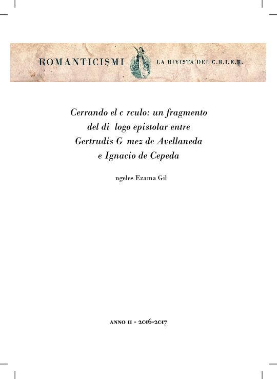 Cerrando el círculo: un fragmento del diálogo epistolar entre Avellaneda y Cepeda