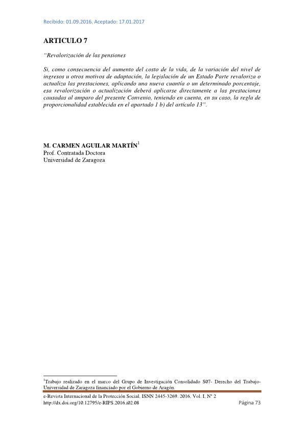 Artículo 7. Revalorización de las pensiones.