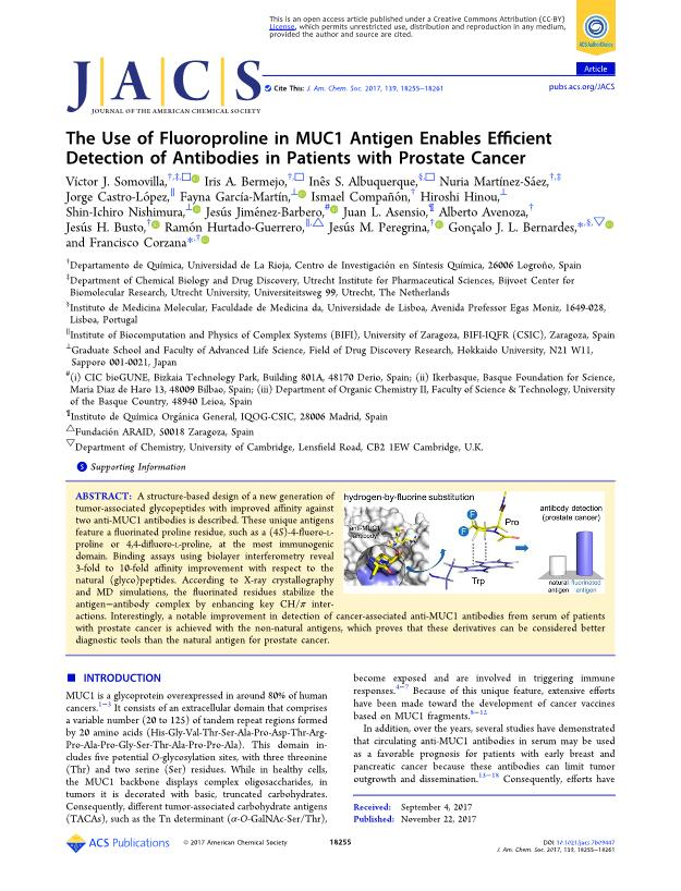 The Use of Fluoroproline in MUC1 Antigen Enables Efficient Detection of Antibodies in Patients with Prostate Cancer