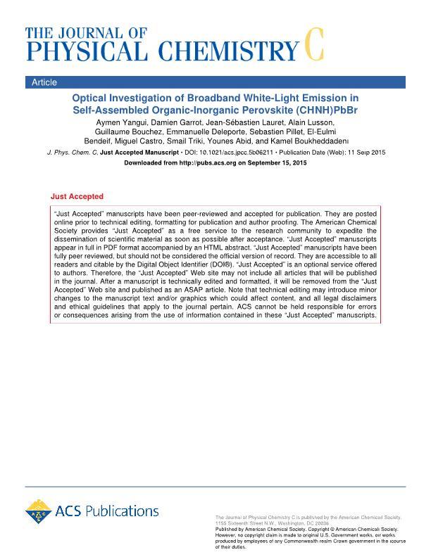 Optical investigation of broadband white-light emission in self-assembled organic-inorganic Perovskite (c6h11nh3)2pbbr4