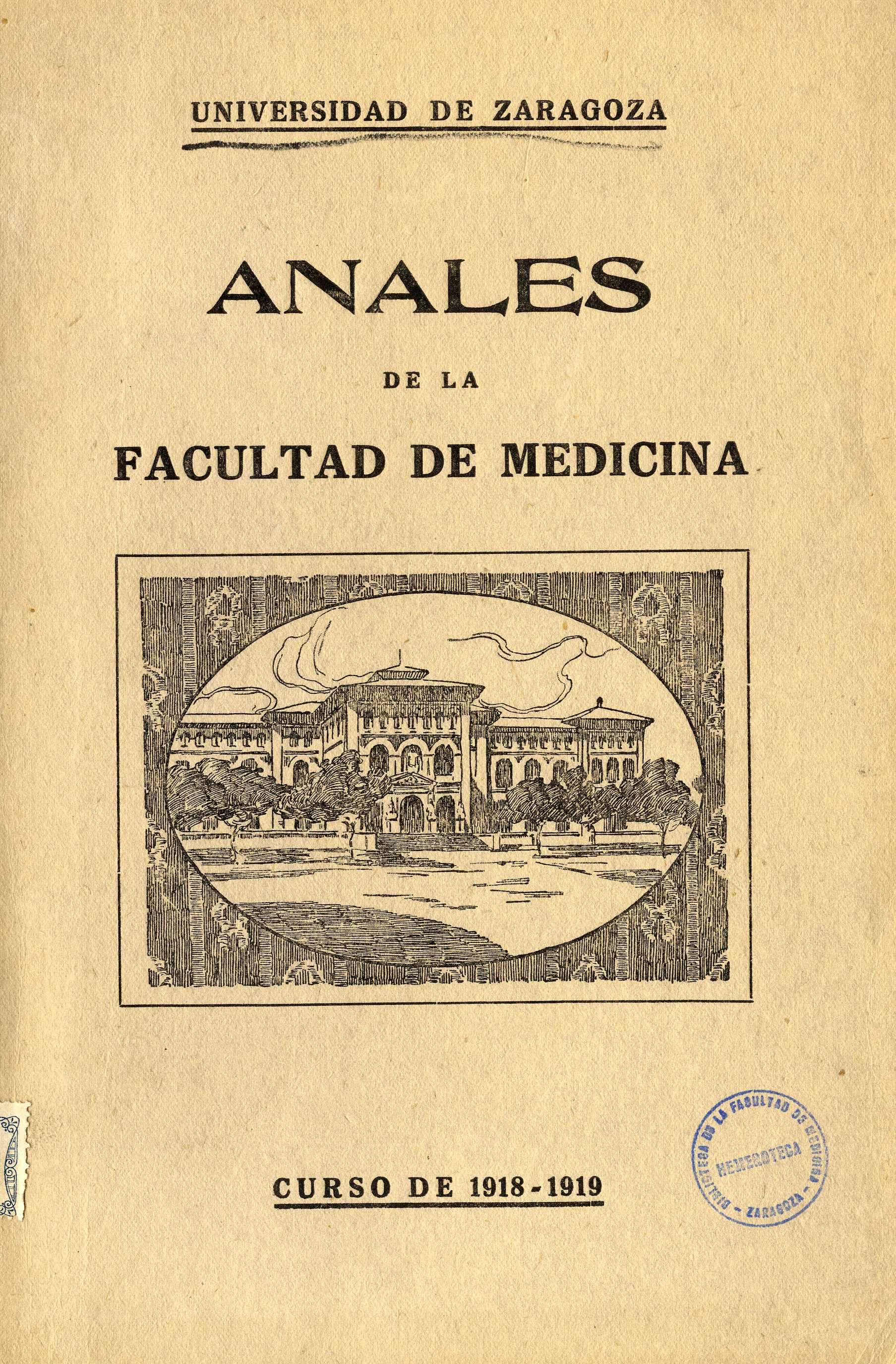 Anales de la Facultad de Medicina, fasc. 1,  (1918-19)