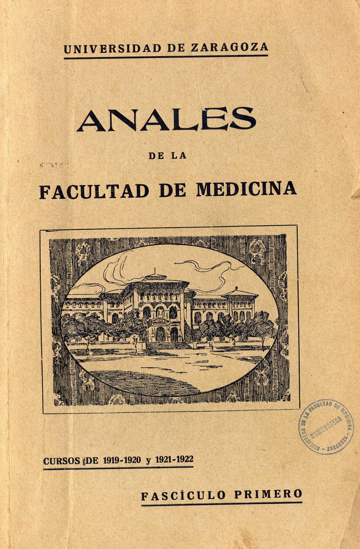 Anales de la Facultad de Medicina, fasc. 1,  (1919-22)