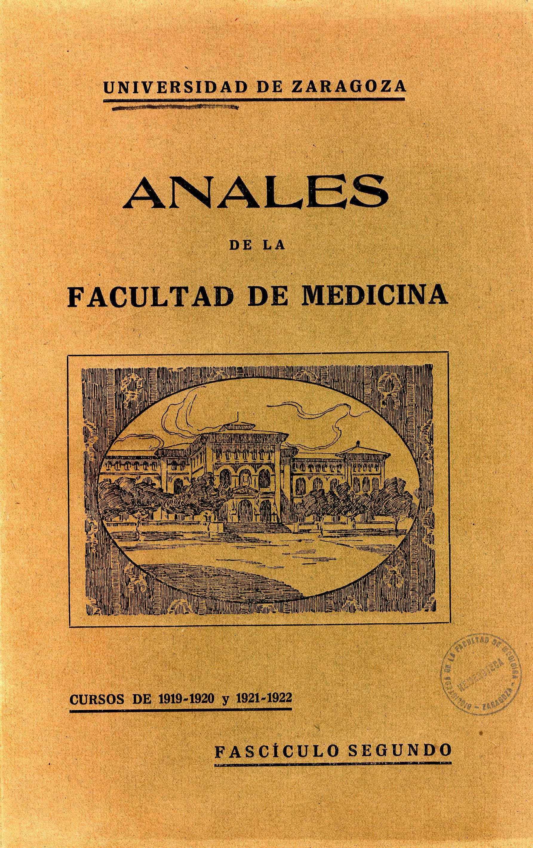 Anales de la Facultad de Medicina, fasc. 2,  (1919-22)