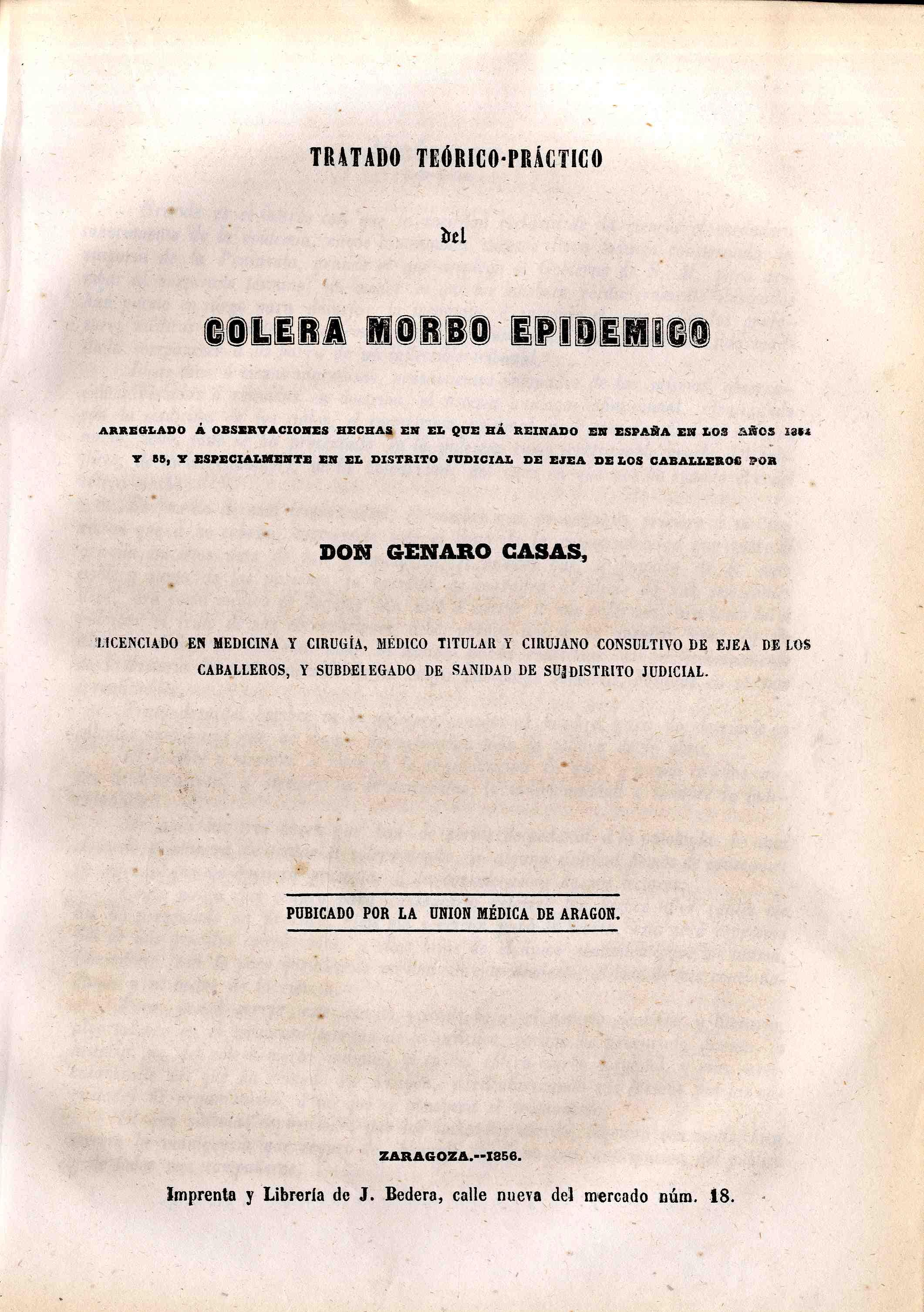 La unión médica de Aragón, T. 2, S.1,  (1857)