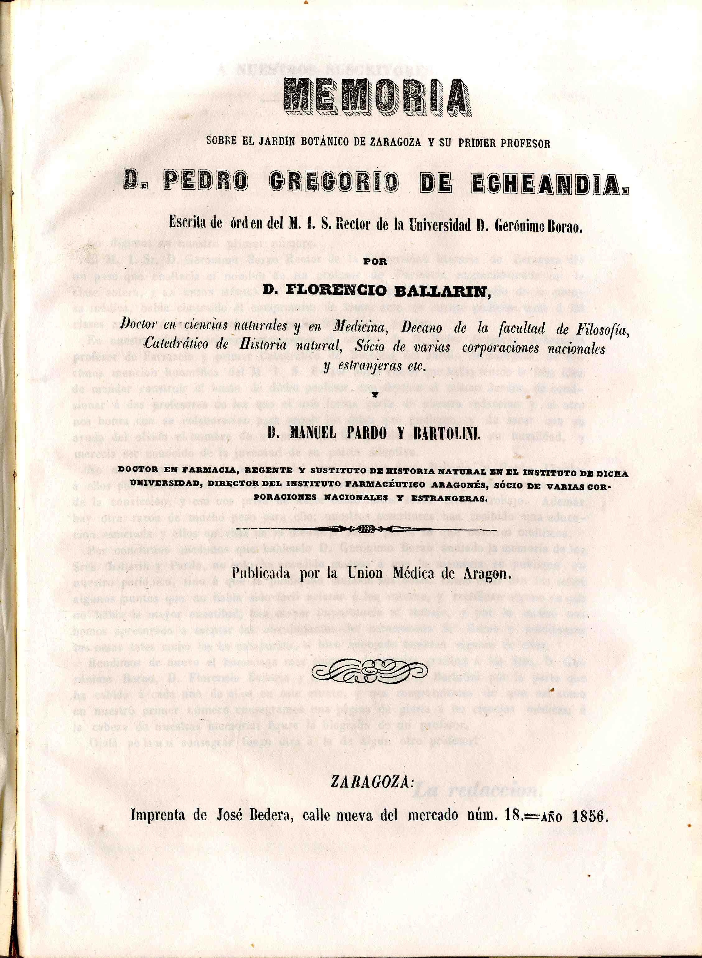 La unión médica de Aragón, T. 2, S.2,  (1857)