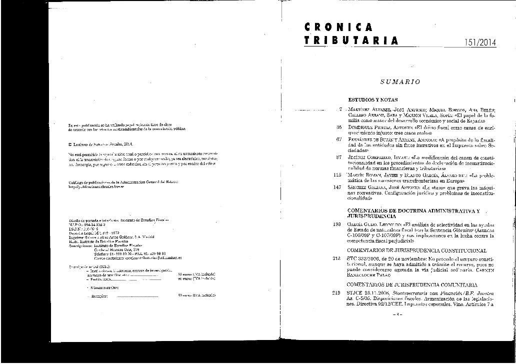 La modificación del canon de constitucionalidad en los procedimientos de declaración de inconstitucionalidad de normas financieras y tributarias