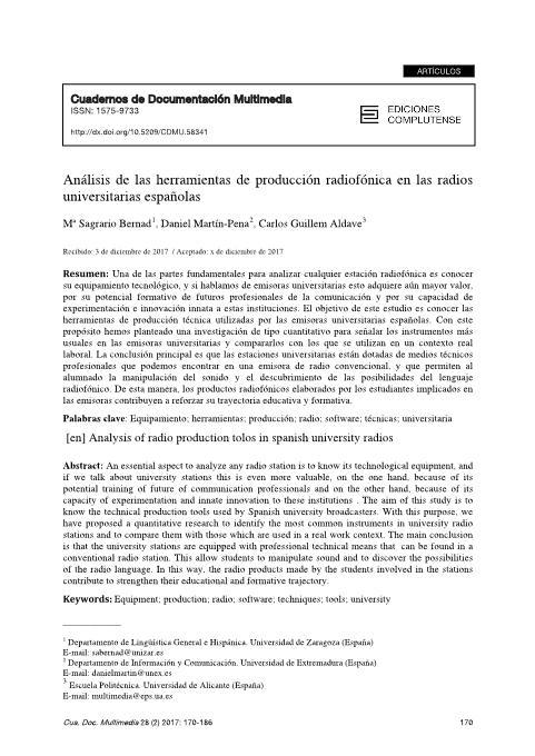 Análisis  de  las  herramientas  de  producción  radiofónica  en  las  radios   universitarias españolas