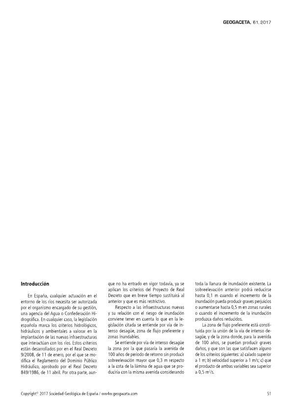 Aplicación de los criterios del reglamento de dominio público hidráulico en la creación de nuevas infraestructuras en España