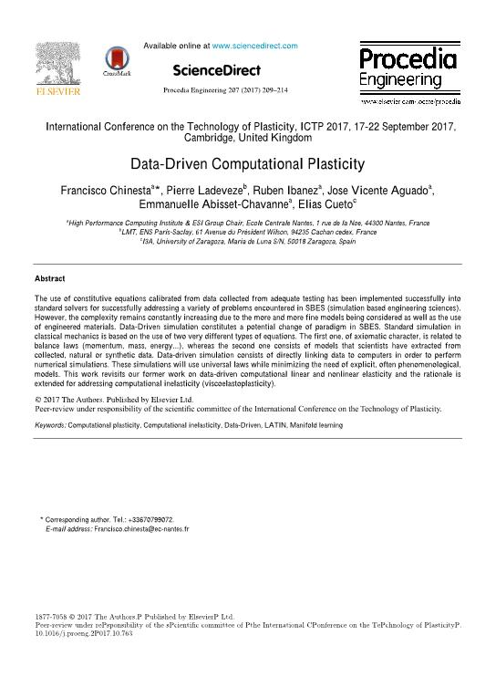 Data-Driven Computational Plasticity