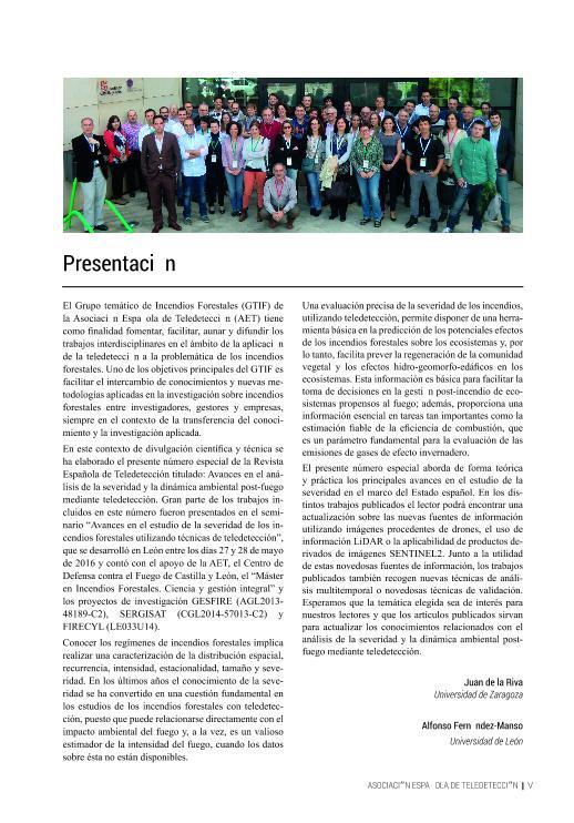 Presentación: Avances en el análisis de la severidad y la dinámica ambiental post-fuego mediante teledetección