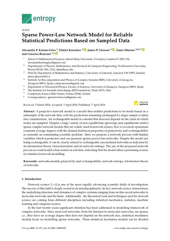 Sparse power-law network model for reliable statistical predictions based on sampled data