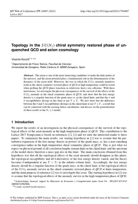 Topology in the SU (Nf) chiral symmetry restored phase of unquenched QCD and axion cosmology