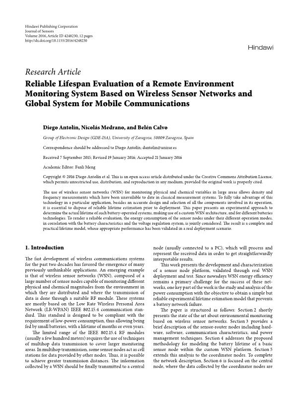 Reliable Lifespan Evaluation of a Remote Environment Monitoring System Based on Wireless Sensor Networks and Global System for Mobile Communications