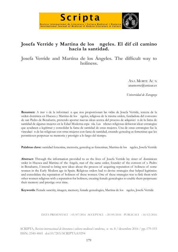 Josefa Verride y Martina de los Ángeles. El difícil camino hacia la santidad