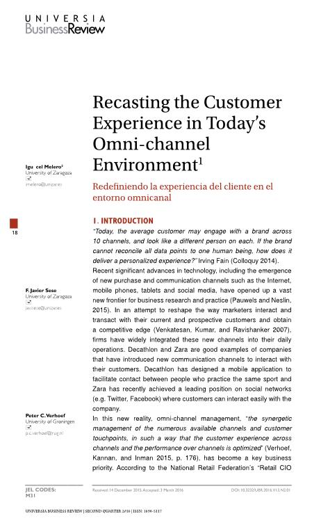 Recasting the Customer Experience in Today''s Omni-channel Environment