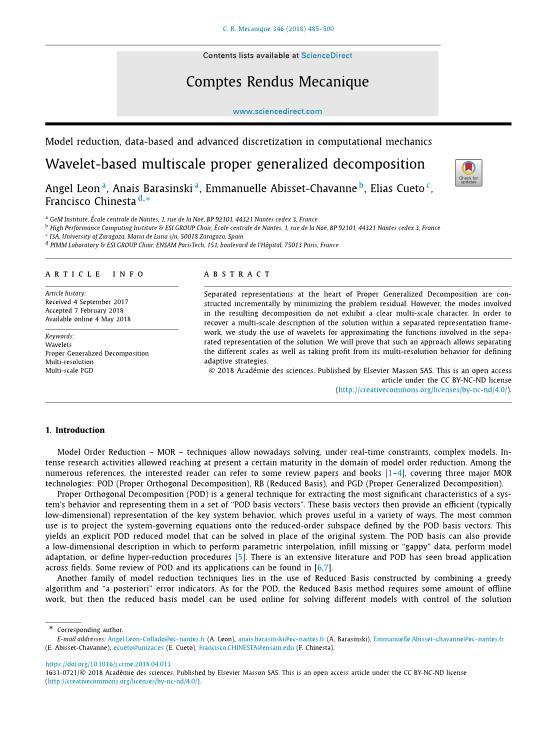 Wavelet-based multiscale proper generalized decomposition
