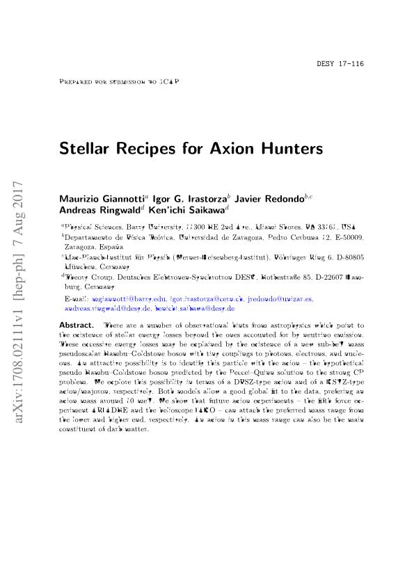 Stellar recipes for Axion hunters