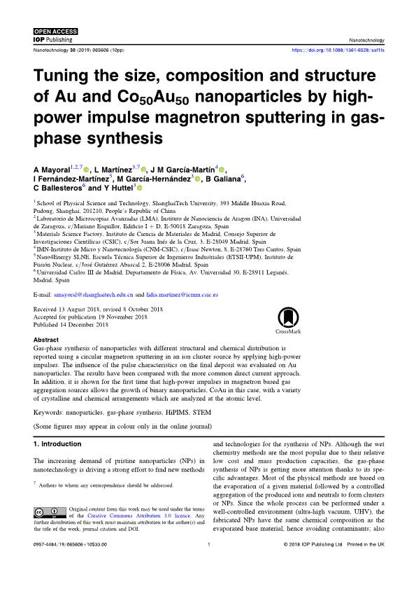 Tuning the size, composition and structure of Au and Co50Au50 Nanoparticles by High-Power Impulse Magnetron Sputtering in gas-phase Synthesis