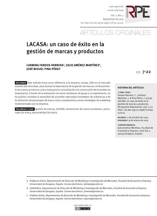 Lacasa: un caso de éxito en la gestión de marcas y productos