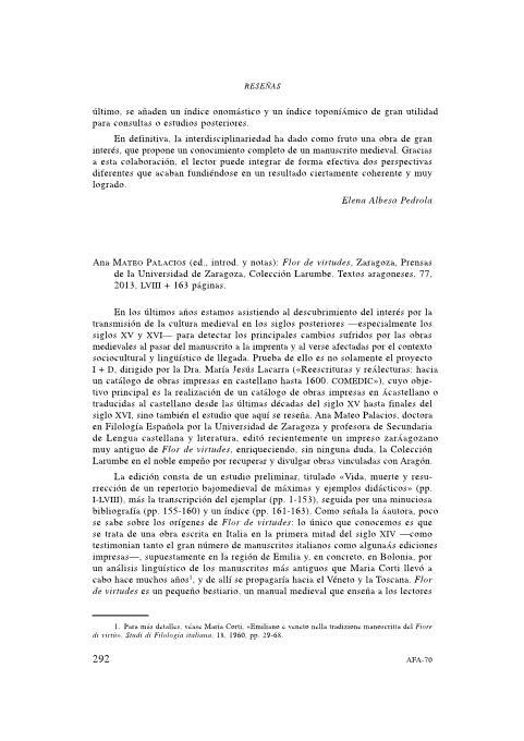 Ana Mateo Palacios (ed., introd. y notas):