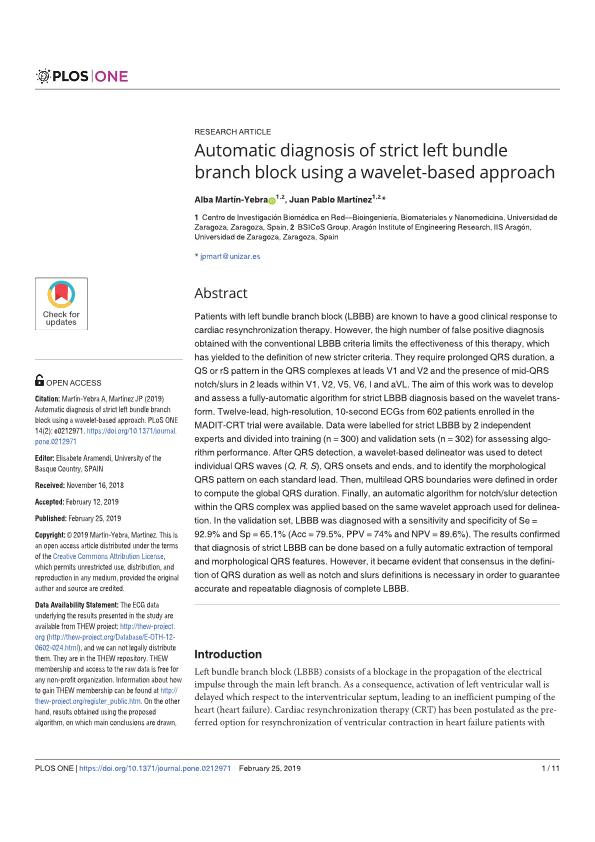Automatic diagnosis of strict left bundle branch block using a wavelet-based approach