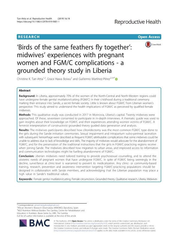 'Birds of the same feathers fly together': midwives' experiences with pregnant women and FGM/C complications - a grounded theory study in Liberia